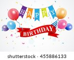 happy birthday greetings card | Shutterstock .eps vector #455886133