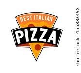 pizza emblem | Shutterstock .eps vector #455886493