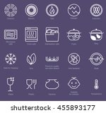 symbols of food grade metal... | Shutterstock .eps vector #455893177