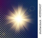 creative concept vector glow... | Shutterstock .eps vector #455903437