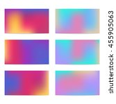 set of six colorful  abstract... | Shutterstock .eps vector #455905063
