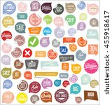 badges and labels collection | Shutterstock .eps vector #455918617