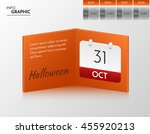 orange vector banner for you... | Shutterstock .eps vector #455920213