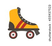roller shoes flat vector... | Shutterstock .eps vector #455937523