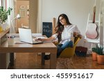 getting it all done from home... | Shutterstock . vector #455951617