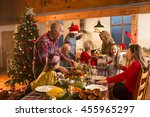a large family are all helping... | Shutterstock . vector #455965297