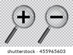 magnifying glass plus and minus | Shutterstock .eps vector #455965603