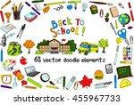 back to school vector elements. ... | Shutterstock .eps vector #455967733
