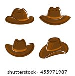 cowboy hat set. vector | Shutterstock .eps vector #455971987