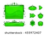 cartoon green vector abstract...
