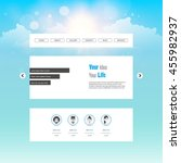 website template vector  with...