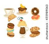 sweet food  cakes  dessert...   Shutterstock .eps vector #455989063