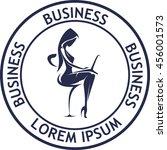 businesswoman in office | Shutterstock .eps vector #456001573