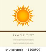 sun. vector illustration. | Shutterstock .eps vector #45600907