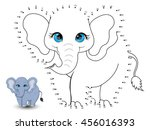 elephant connect the dot and... | Shutterstock .eps vector #456016393