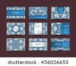 business cards big set. vector... | Shutterstock .eps vector #456026653