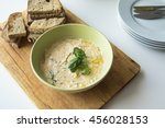 typical slovak spread made from ... | Shutterstock . vector #456028153