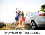 summer vacation  holidays ... | Shutterstock . vector #456065263