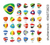 flags of the world. part 1. | Shutterstock .eps vector #456072823