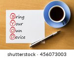 bring your own device  byod   ... | Shutterstock . vector #456073003