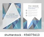 flyer design a4 size cover... | Shutterstock .eps vector #456075613