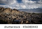 ladakh city in cloudy weather    Shutterstock . vector #456080443