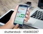 chiang mai thailand   july 21 ... | Shutterstock . vector #456083287
