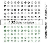 global communication icon set ... | Shutterstock .eps vector #456086017