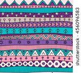 tribal multicolor seamless... | Shutterstock .eps vector #456096583