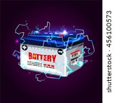 car battery with electric... | Shutterstock .eps vector #456100573