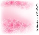 beautiful pink rose flower...   Shutterstock .eps vector #456109603