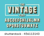 vector of vintage font and... | Shutterstock .eps vector #456113143