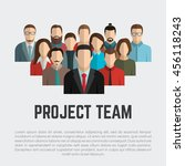 project team. employee group.... | Shutterstock .eps vector #456118243