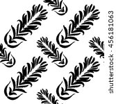 bohemian graphic pattern hand... | Shutterstock .eps vector #456181063
