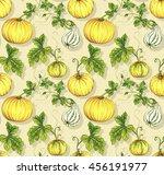 Curbis And Gourd. Seamless...