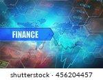 finance header  text button... | Shutterstock . vector #456204457