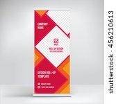 banner roll up design  business ... | Shutterstock .eps vector #456210613