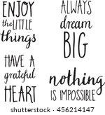 vector hand lettered... | Shutterstock .eps vector #456214147
