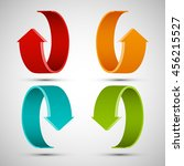 four curved arrow. 4 direction... | Shutterstock .eps vector #456215527