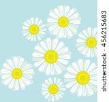 daisy bouquet on blue color... | Shutterstock .eps vector #456215683