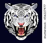 bared in a terrible rage tiger | Shutterstock . vector #456227977