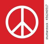 white peace symbol vector icon. ... | Shutterstock .eps vector #456240517