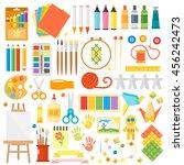 themed kids creativity creation ... | Shutterstock .eps vector #456242473