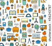 vector illustration with... | Shutterstock .eps vector #456243787