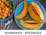 Cantaloupe Melon Slices Sittin...