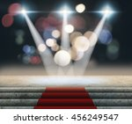 stage lighting background 3d... | Shutterstock . vector #456249547