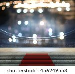 stage lighting background 3d... | Shutterstock . vector #456249553