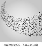 musical symbols with musical... | Shutterstock .eps vector #456251083