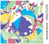 vector fabric circles and...   Shutterstock .eps vector #456271153