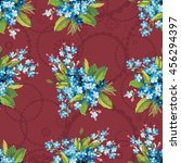 seamless floral pattern with... | Shutterstock .eps vector #456294397